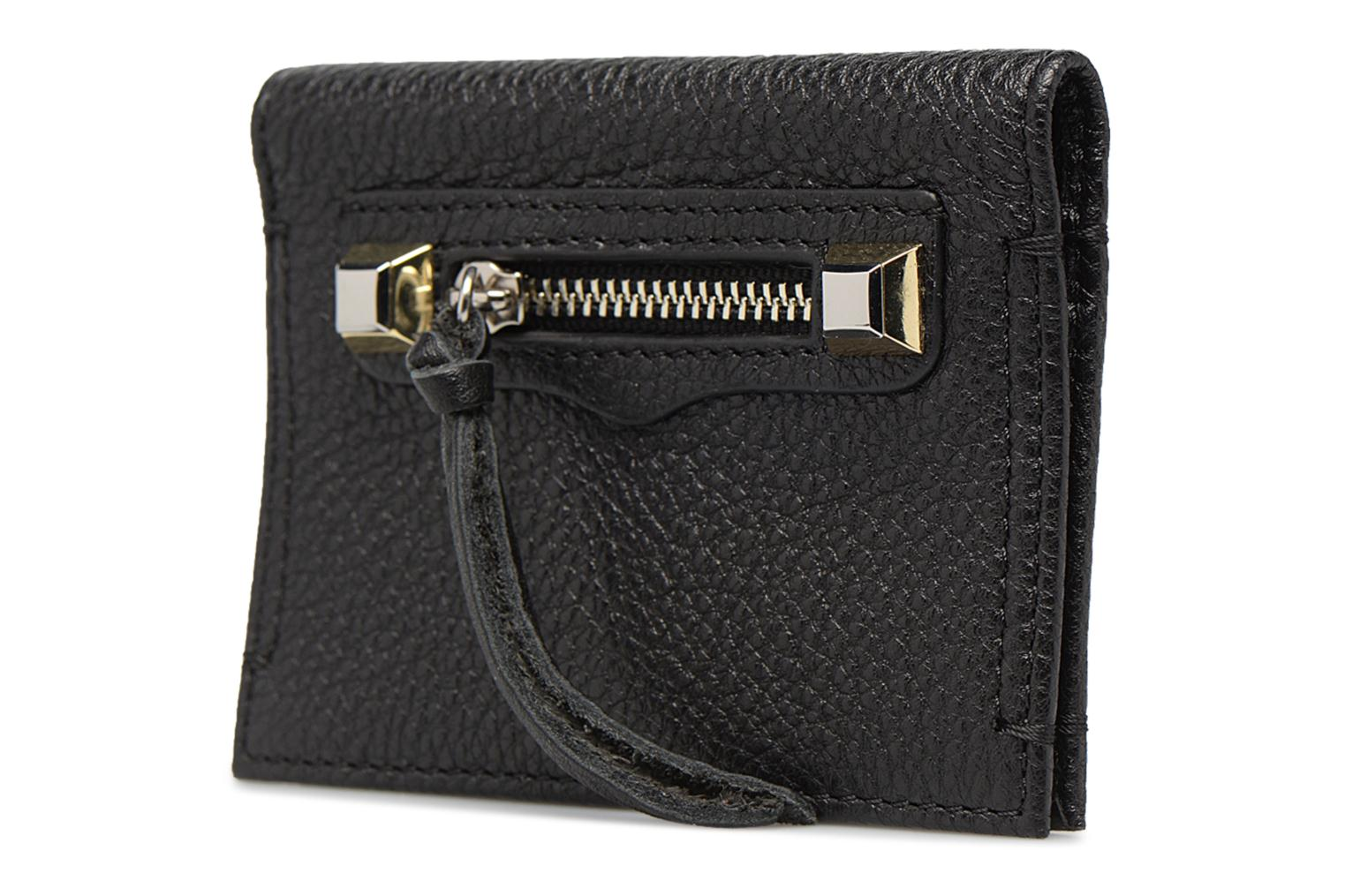 Kleine lederwaren Rebecca Minkoff REGAN CARD CASE Zwart model