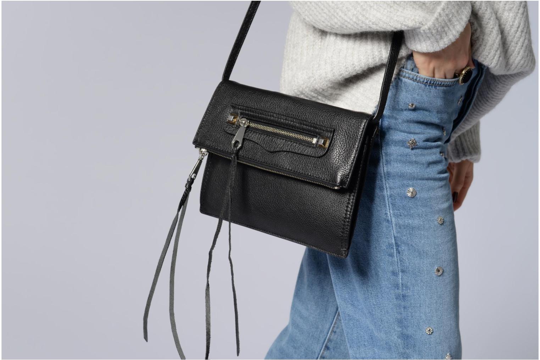 Handtaschen Rebecca Minkoff SMALL REGAN CLUTCH schwarz ansicht von oben