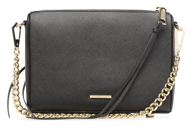 Handtaschen Rebecca Minkoff SAFFIANO AVERY CROSSBODY schwarz ansicht von vorne