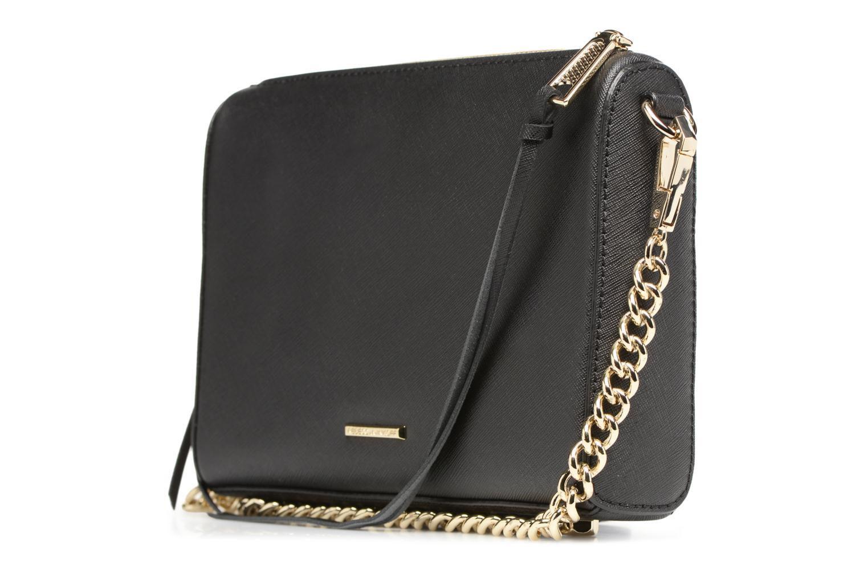 Handtaschen Rebecca Minkoff SAFFIANO AVERY CROSSBODY schwarz ansicht von rechts