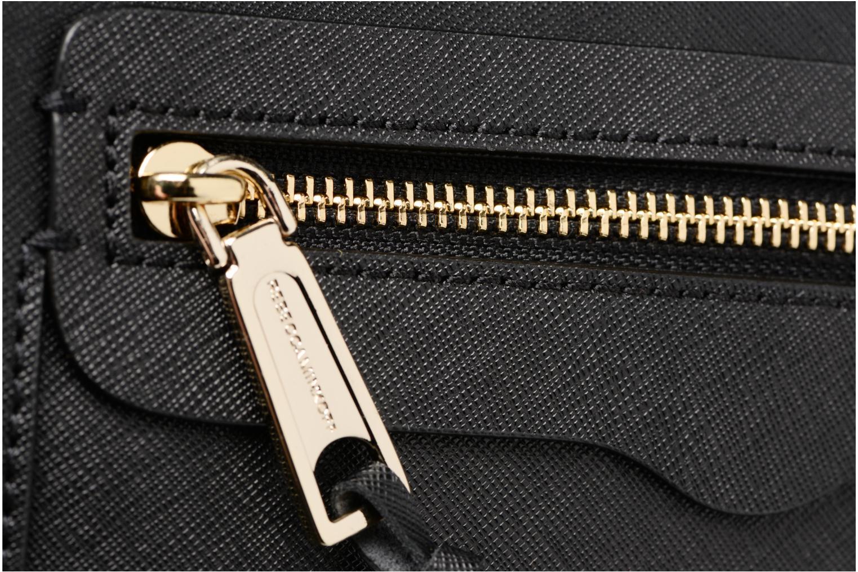 Handtaschen Rebecca Minkoff SAFFIANO AVERY CROSSBODY schwarz ansicht von links