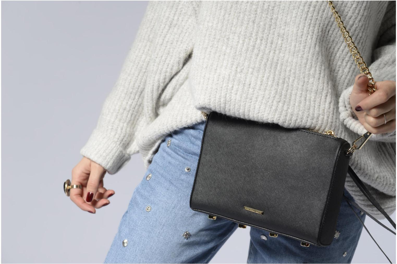 Handtaschen Rebecca Minkoff SAFFIANO AVERY CROSSBODY schwarz ansicht von oben