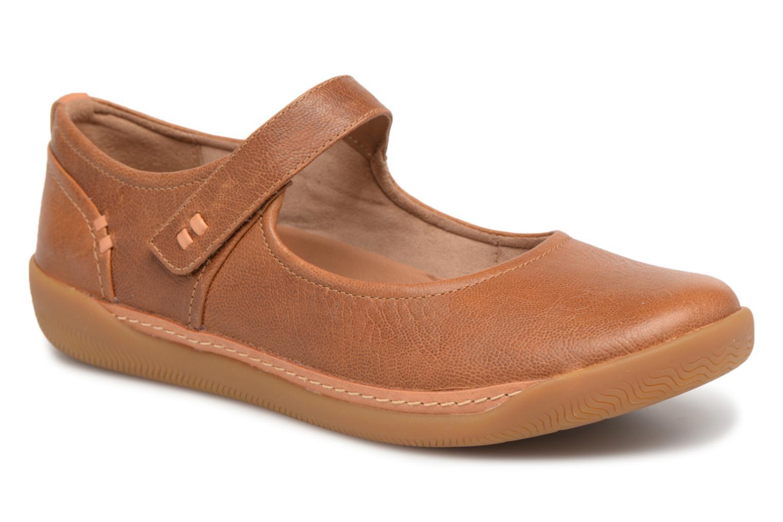 Zapatos de hombres de y mujeres de hombres moda casual Clarks Unstructured Un Haven Strap (Marrón) - Bailarinas en Más cómodo 457341
