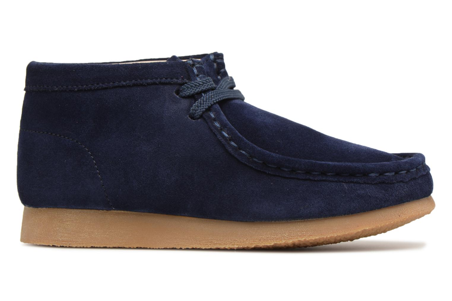 Lace-up shoes Clarks Wallabee Bt Blue back view