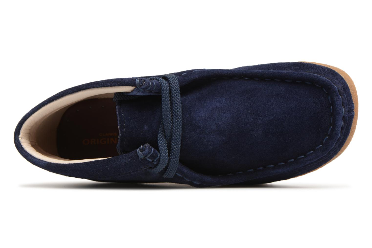 Lace-up shoes Clarks Wallabee Bt Blue view from the left