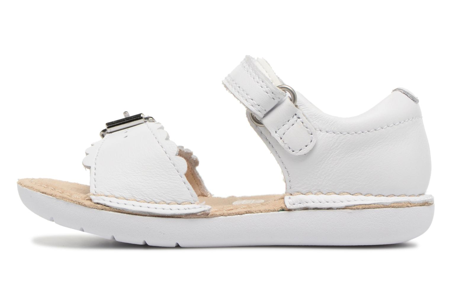 Sandals Clarks Ivy Flora White front view