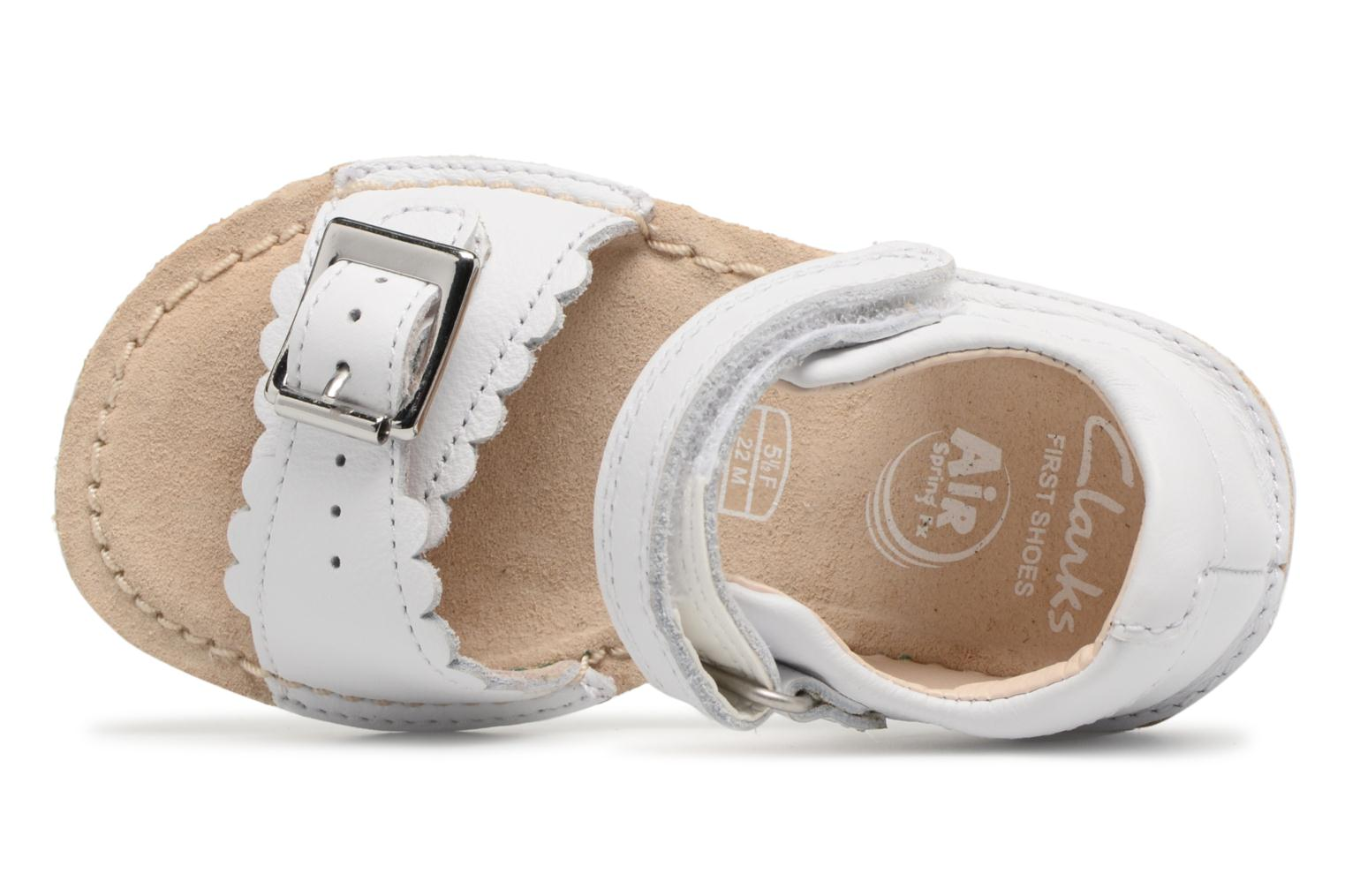Sandals Clarks Ivy Flora White view from the left