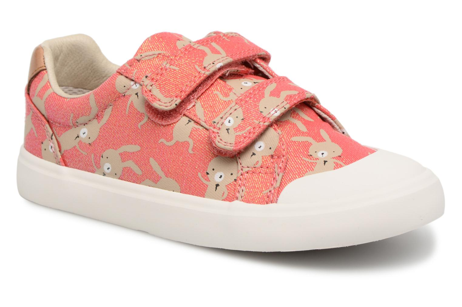 Trainers Clarks Comic Cool Pink model view