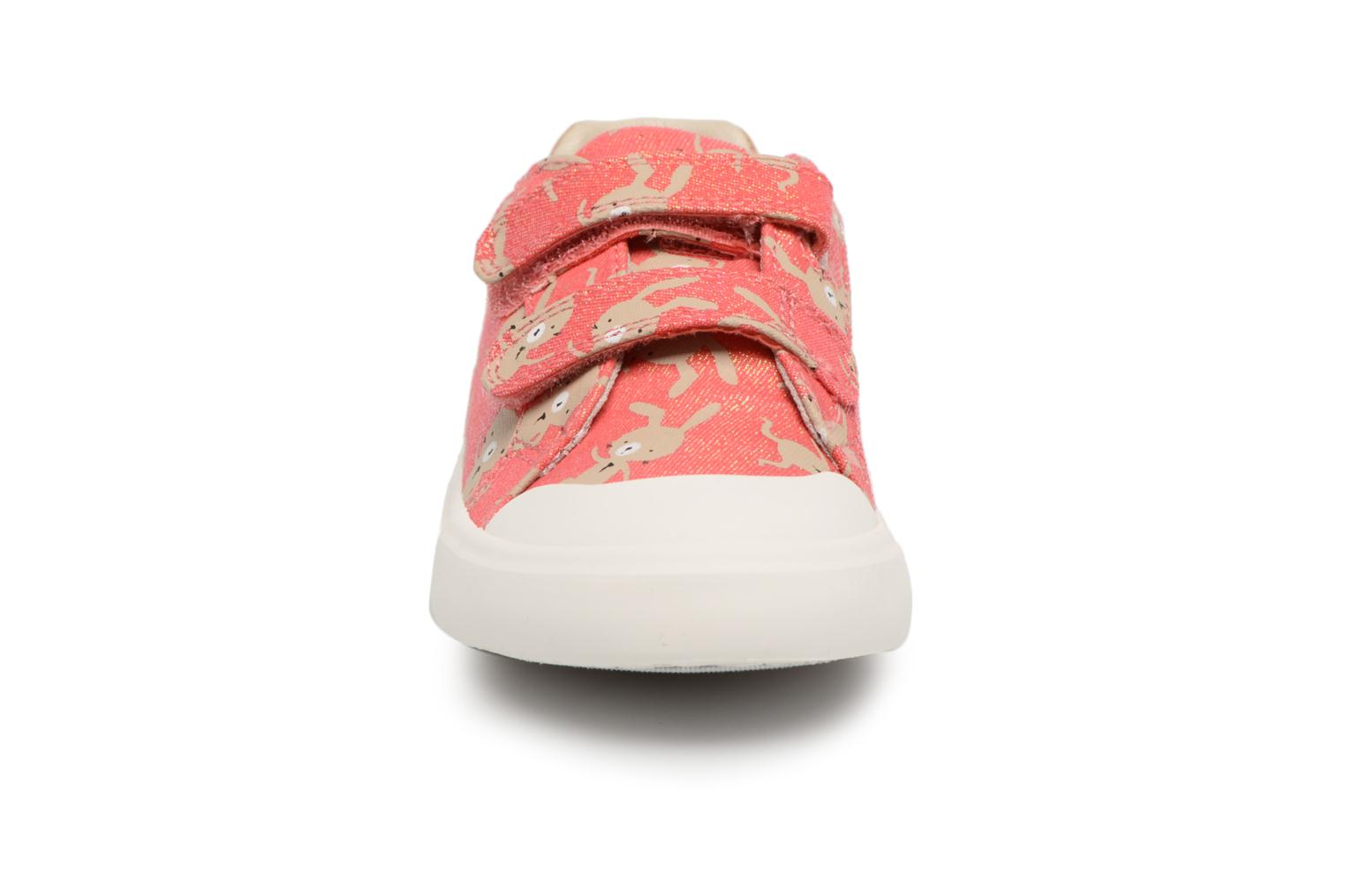 Trainers Clarks Comic Cool Pink front view