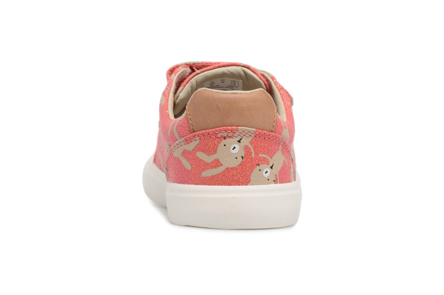 Trainers Clarks Comic Cool Pink back view