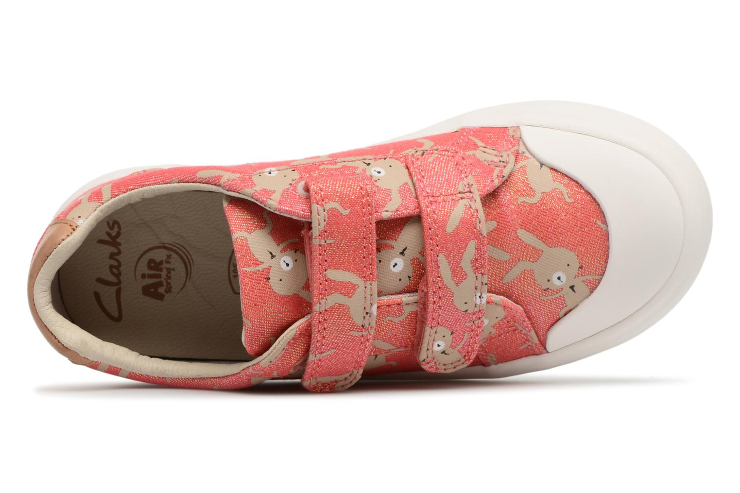 Trainers Clarks Comic Cool Pink view from above