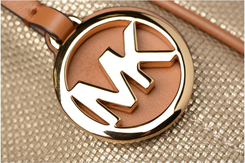 Bolsos de mano Michael Michael Kors Isla LG Grab Bag Oro y bronce vista lateral izquierda