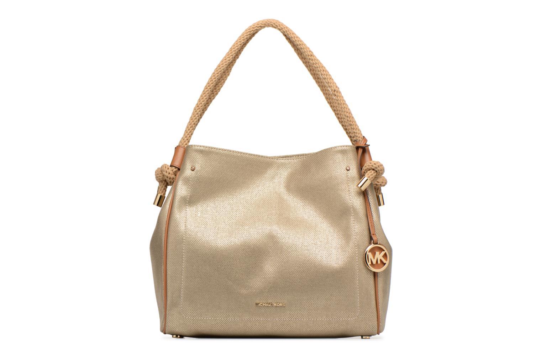 Bolsos de mano Michael Michael Kors Isla LG Grab Bag Oro y bronce vista de detalle / par