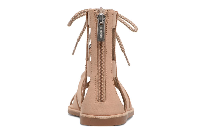 Sandales et nu-pieds Sorel Ella Lace Up Marron vue droite