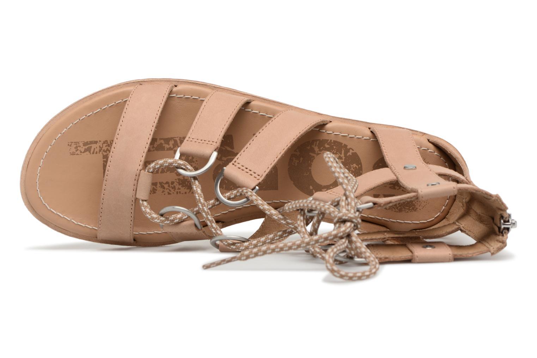 Sandales et nu-pieds Sorel Ella Lace Up Marron vue gauche
