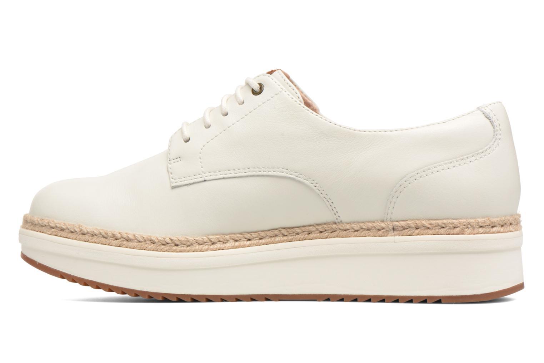 Chaussures à lacets Clarks Teadale Rhea Blanc vue face