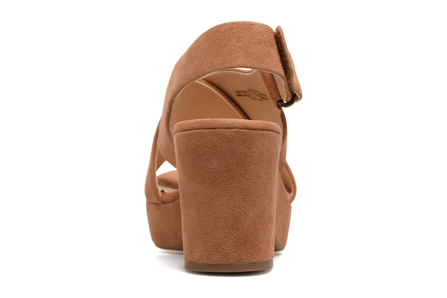 Sandals Clarks Maritsa Lara Brown view from the right