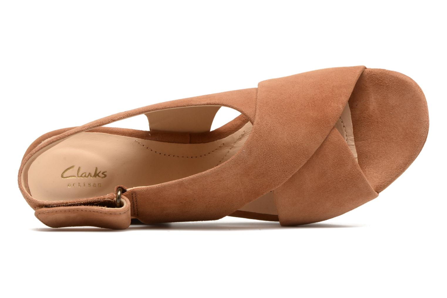 Sandals Clarks Maritsa Lara Brown view from the left