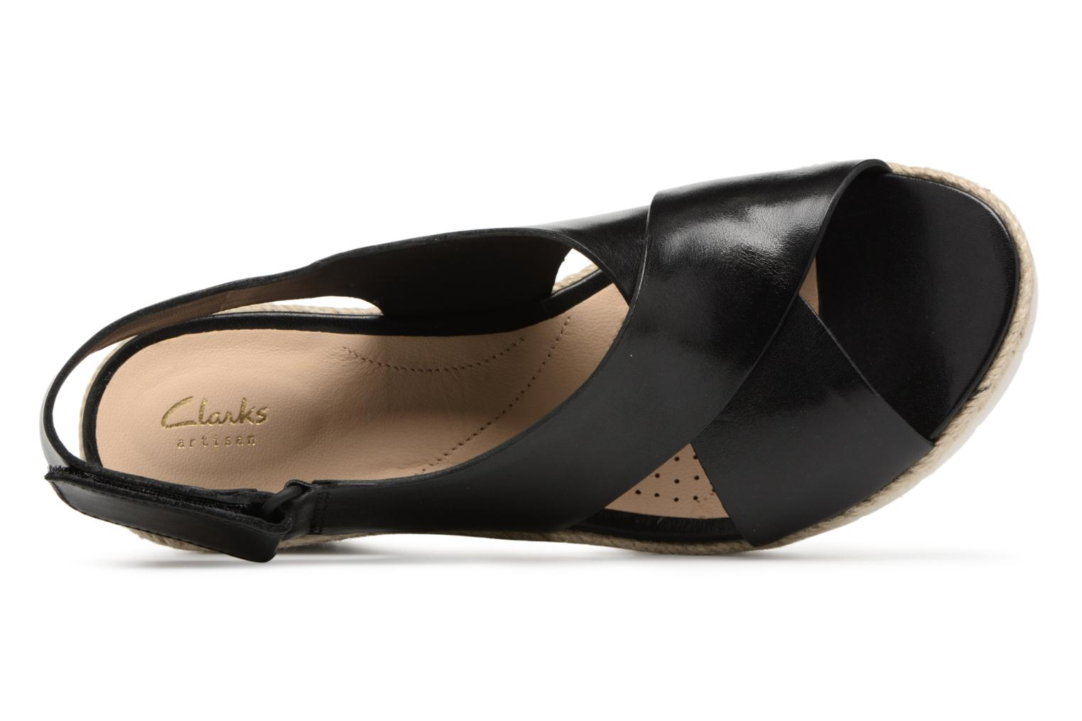 Sandals Clarks Palm Glow Black view from the left