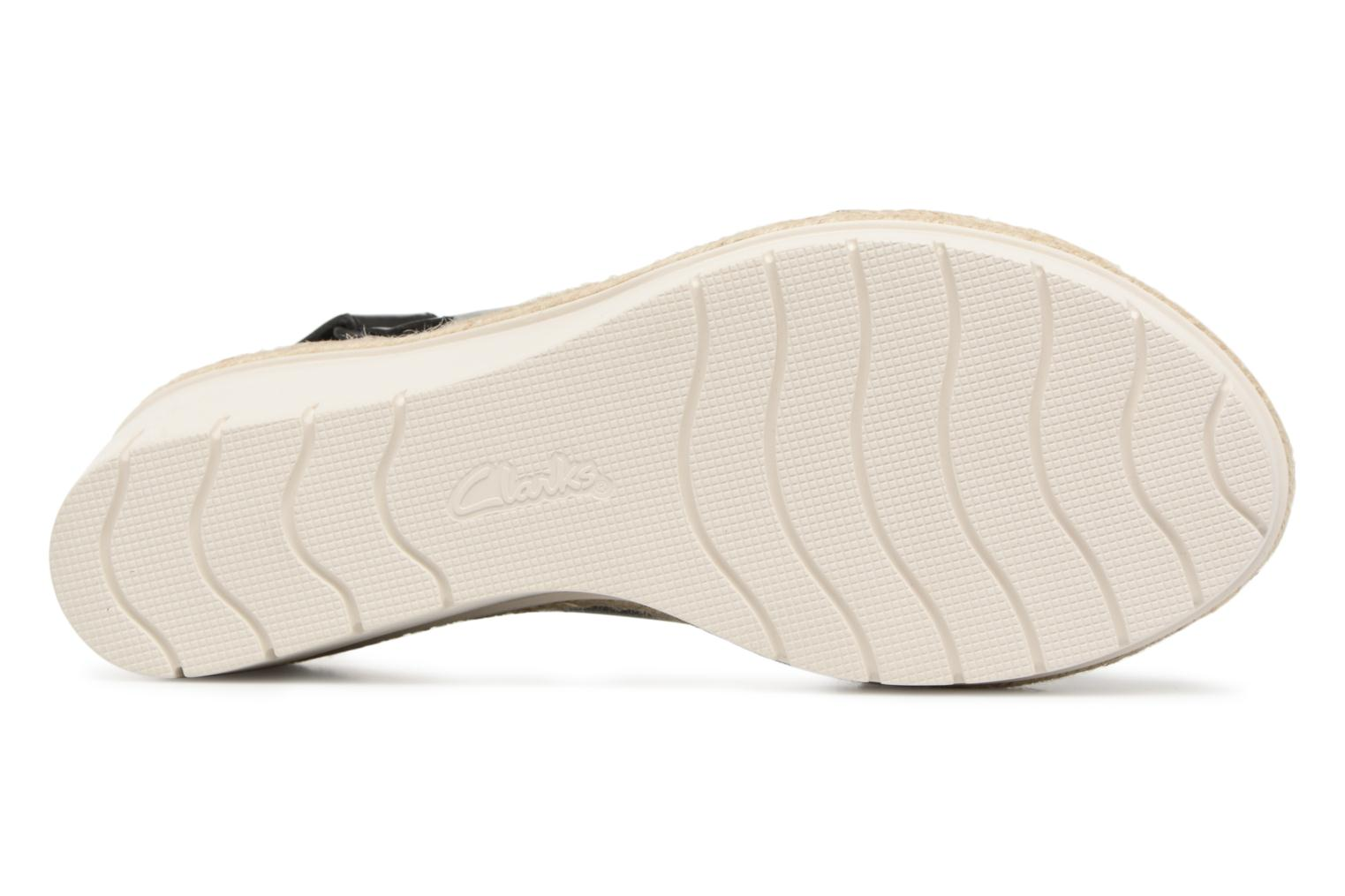 Sandals Clarks Palm Glow Black view from above