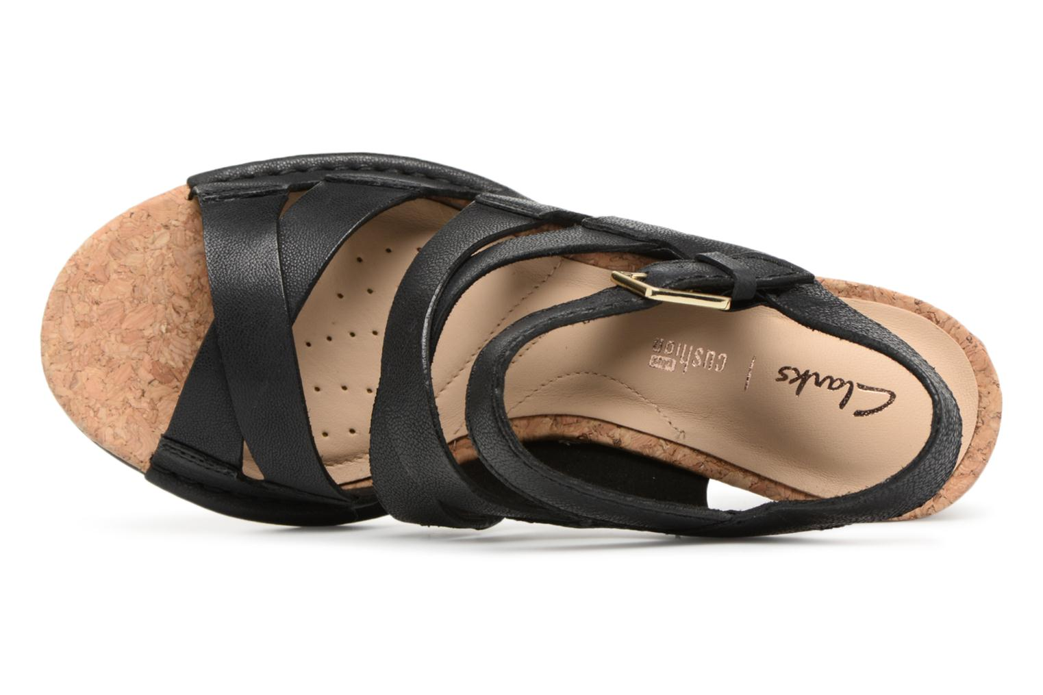 Sandals Clarks Spiced Ava Black view from the left