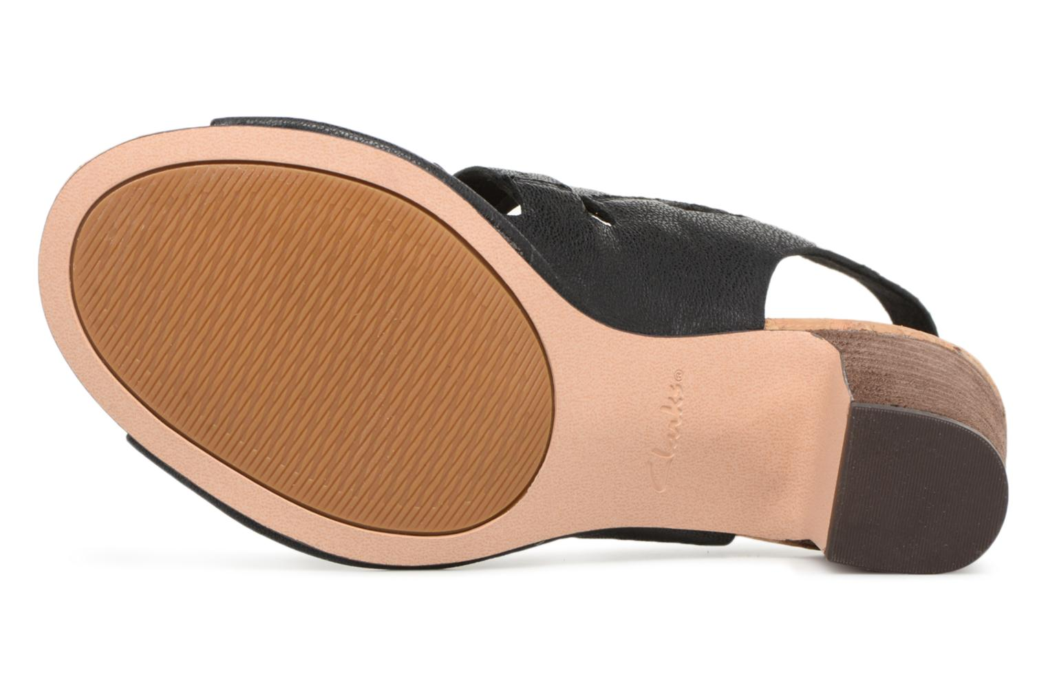 Sandals Clarks Spiced Ava Black view from above