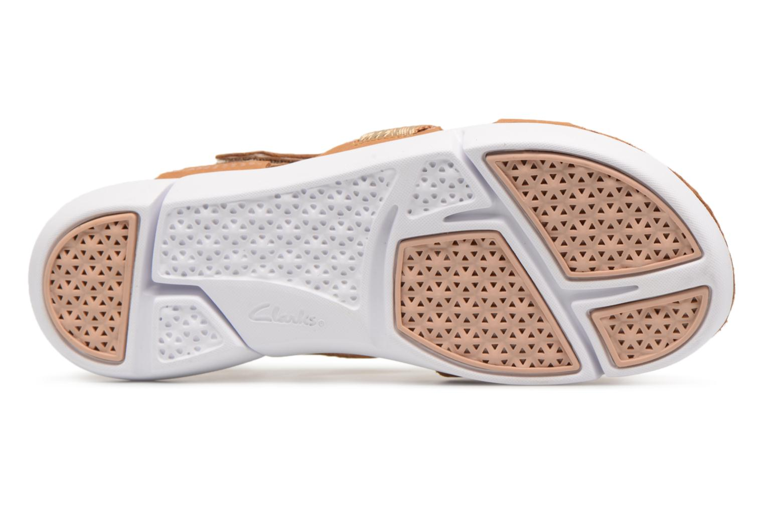 Sandals Clarks Tri Clover Beige view from above