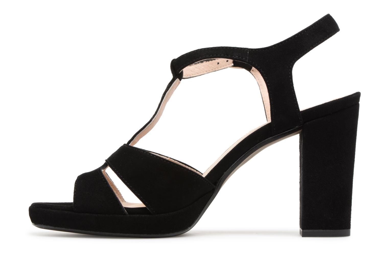 Sandales et nu-pieds Georgia Rose Lapatou Noir vue face