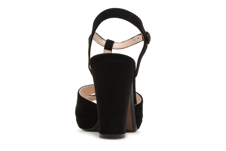 Sandales et nu-pieds Georgia Rose Lapatou Noir vue droite