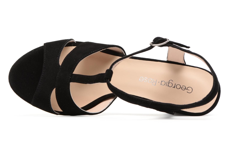Sandales et nu-pieds Georgia Rose Lapatou Noir vue gauche