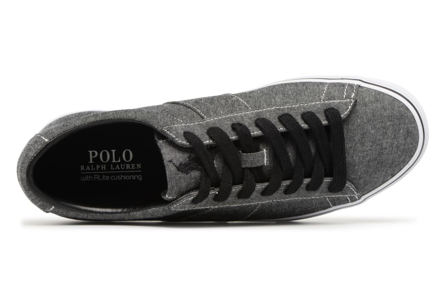 Trainers Polo Ralph Lauren Sayer Black view from the left