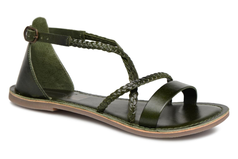 Kickers Divague (Vert) - Sandales et nu-pieds chez Sarenza (340637)