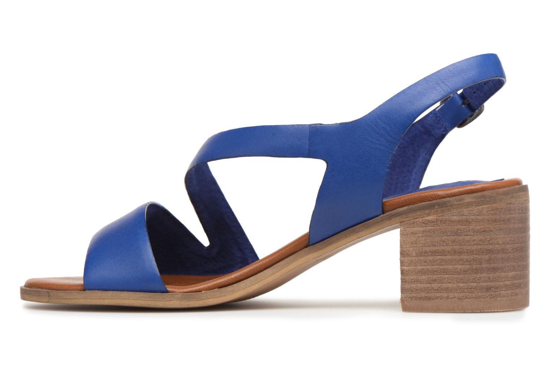 Sandales et nu-pieds Kickers Volubil Bleu vue face