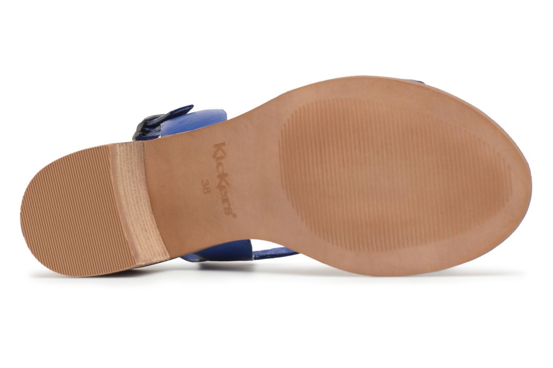 Sandales et nu-pieds Kickers Volubil Bleu vue haut