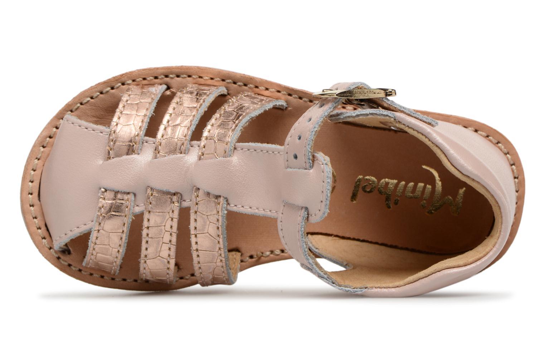 Sandales et nu-pieds Minibel Kegepy Rose vue gauche