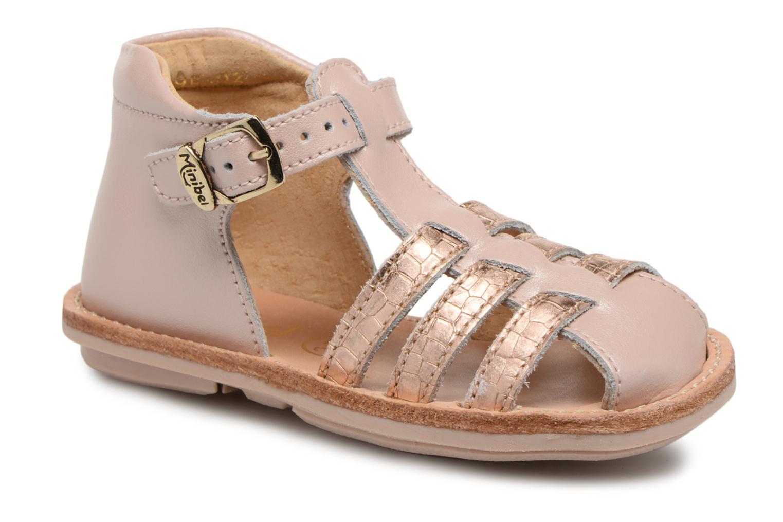 Sandales et nu-pieds Minibel Kegepy Rose vue détail/paire