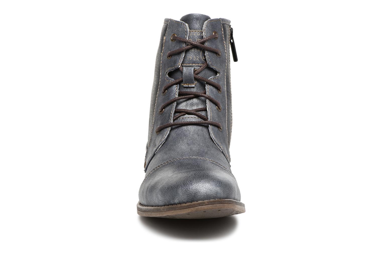 Bottines et boots Mustang shoes 1157549 Damen Schnür-Booty Bleu vue portées chaussures