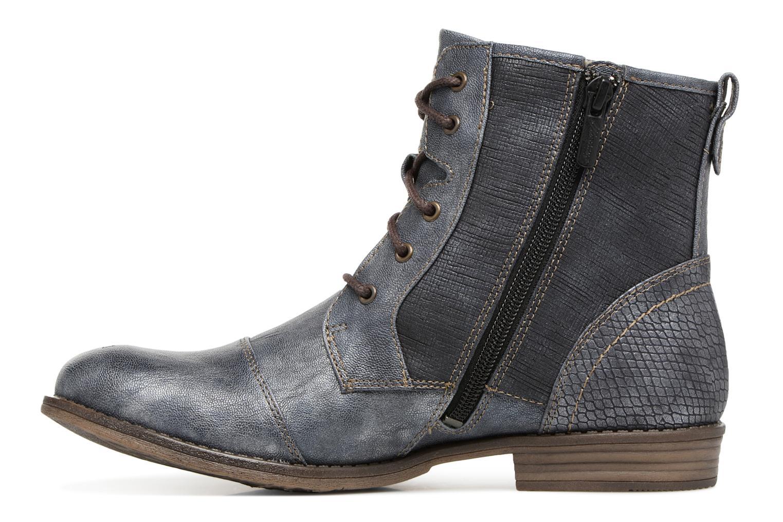 Bottines et boots Mustang shoes 1157549 Damen Schnür-Booty Bleu vue face