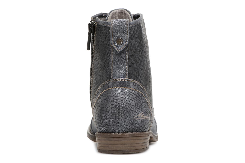 Bottines et boots Mustang shoes 1157549 Damen Schnür-Booty Bleu vue droite