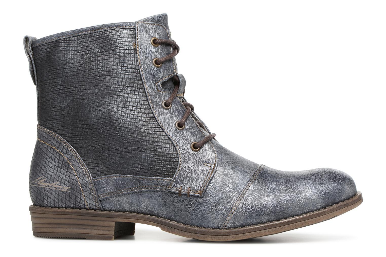 Bottines et boots Mustang shoes 1157549 Damen Schnür-Booty Bleu vue derrière
