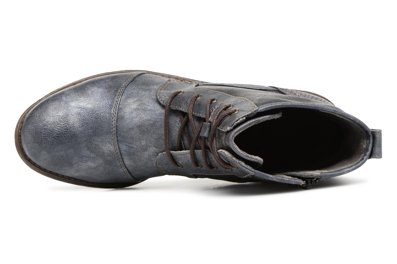 Bottines et boots Mustang shoes 1157549 Damen Schnür-Booty Bleu vue gauche