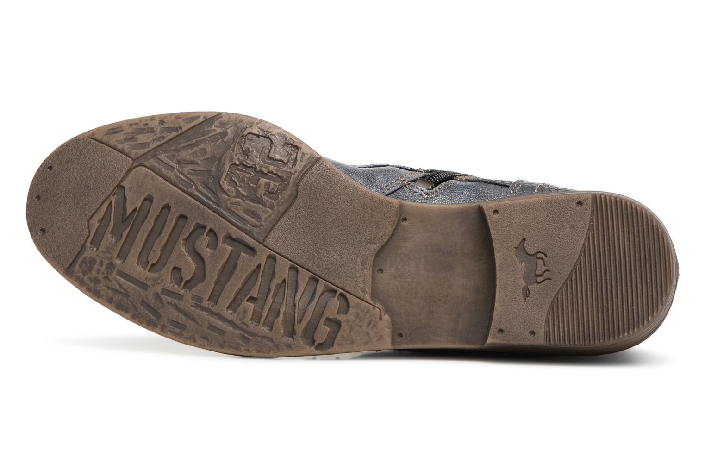 Bottines et boots Mustang shoes 1157549 Damen Schnür-Booty Bleu vue haut