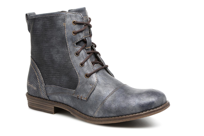 Bottines et boots Mustang shoes 1157549 Damen Schnür-Booty Bleu vue détail/paire