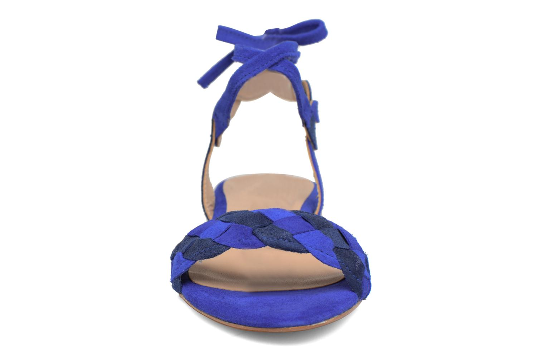 Sandals Bensimon Plagettes Tressées Blue model view
