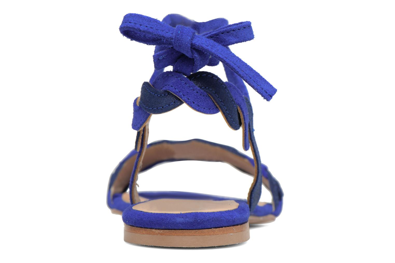 Sandals Bensimon Plagettes Tressées Blue view from the right