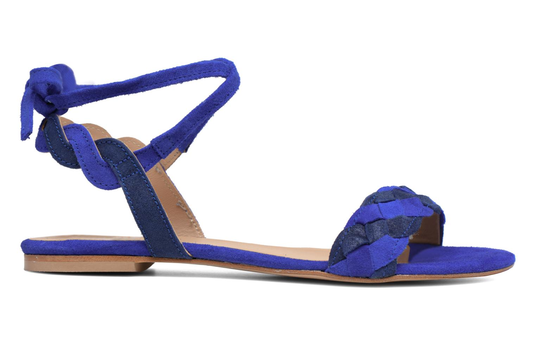 Sandals Bensimon Plagettes Tressées Blue back view