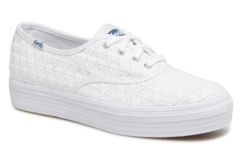 ZapatosKeds Triple Embroidered Triangle (Blanco) Zapatos - Deportivas   Zapatos (Blanco) de mujer baratos zapatos de mujer b5a9d4