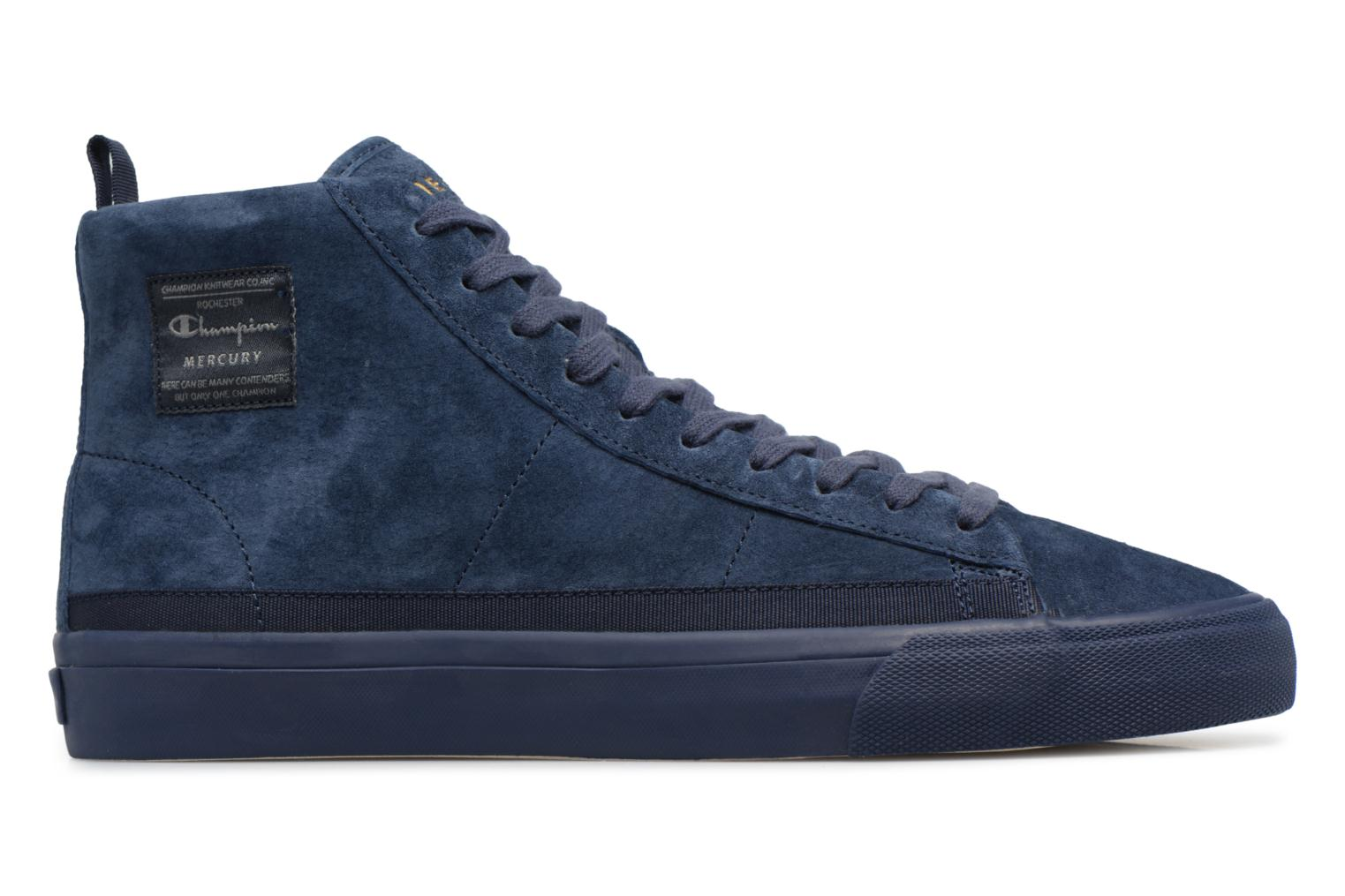 Sneakers Champion Mid Cut Shoe MERCURY MID SUEDE Blauw achterkant