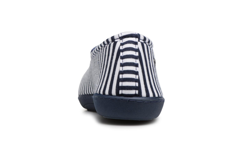 Chaussons Isotoner Ballerine semelle ergonomique Bleu vue droite