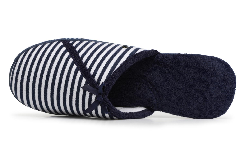 Chaussons Isotoner Mule semelle ergonomique Bleu vue gauche
